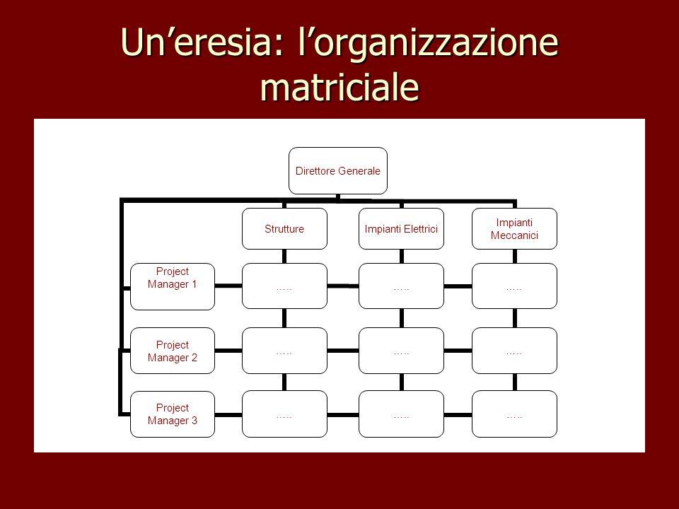 Un'eresia: l'organizzazione matriciale