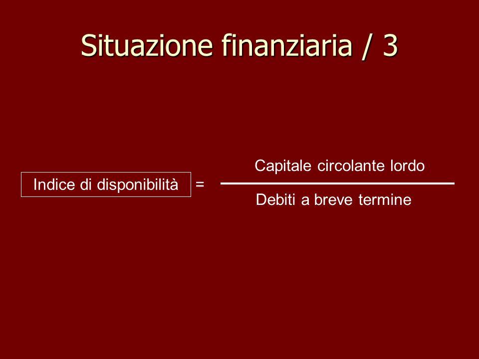 Situazione finanziaria / 3