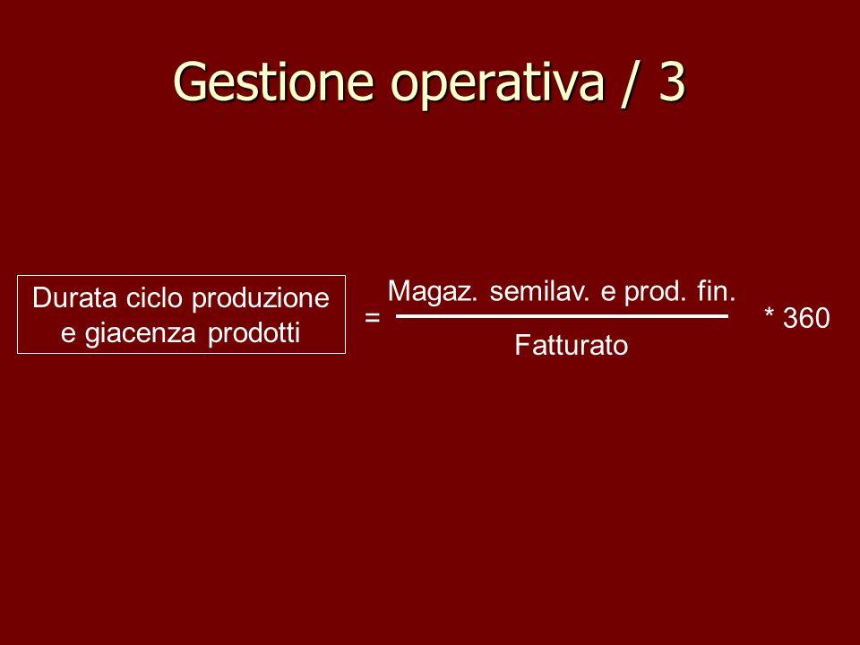 Gestione operativa / 3 Magaz. semilav. e prod. fin.