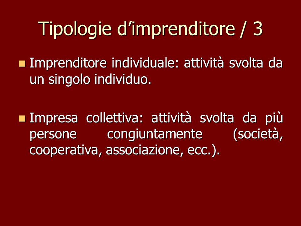 Tipologie d'imprenditore / 3