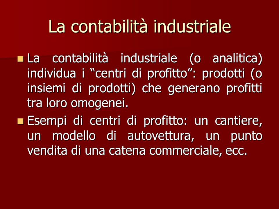 La contabilità industriale