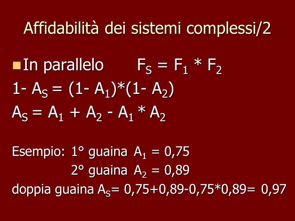 Affidabilità dei sistemi complessi/2