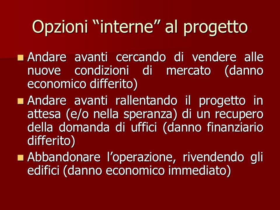 Opzioni interne al progetto