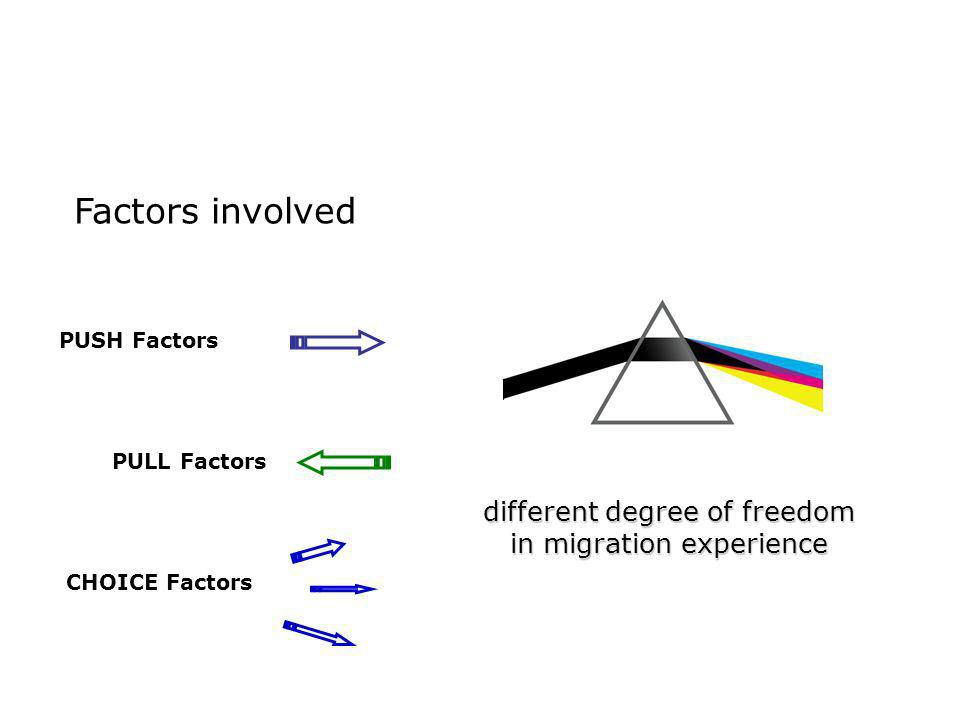 different degree of freedom in migration experience