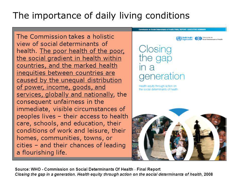 The importance of daily living conditions