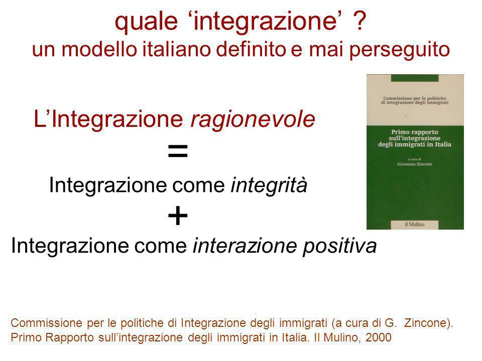 quale 'integrazione' un modello italiano definito e mai perseguito