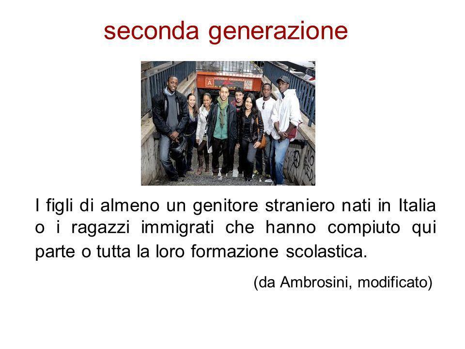 seconda generazione (da Ambrosini, modificato)