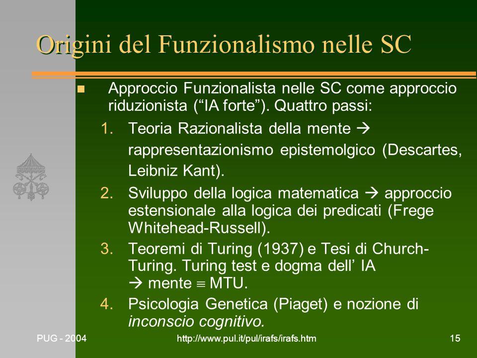 Origini del Funzionalismo nelle SC