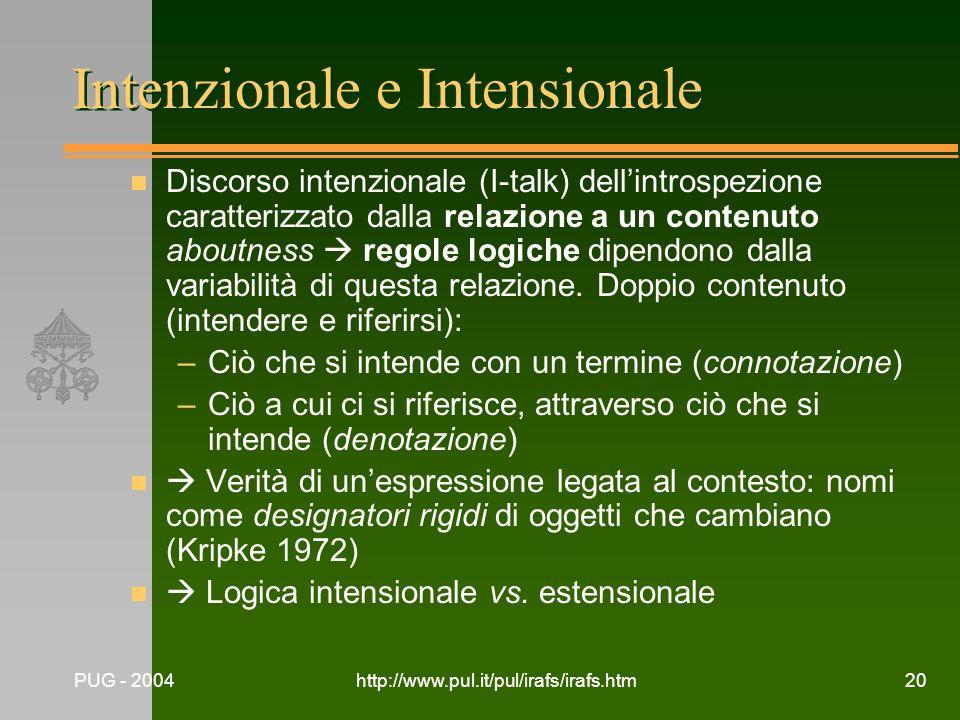 Intenzionale e Intensionale