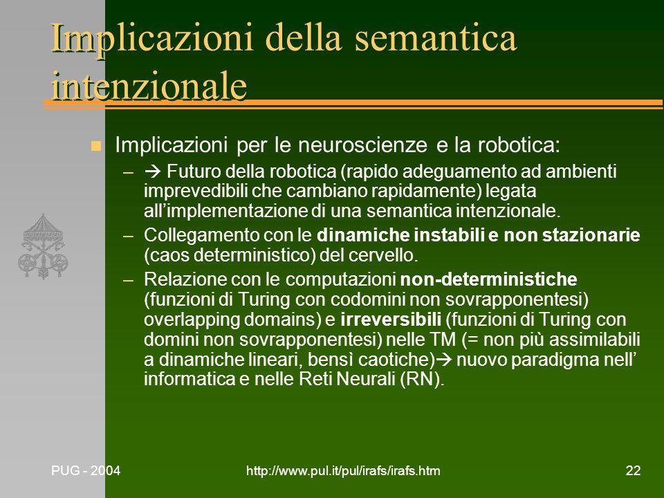 Implicazioni della semantica intenzionale