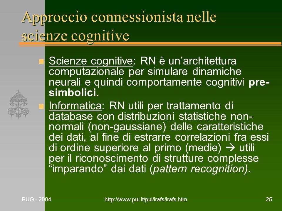 Approccio connessionista nelle scienze cognitive
