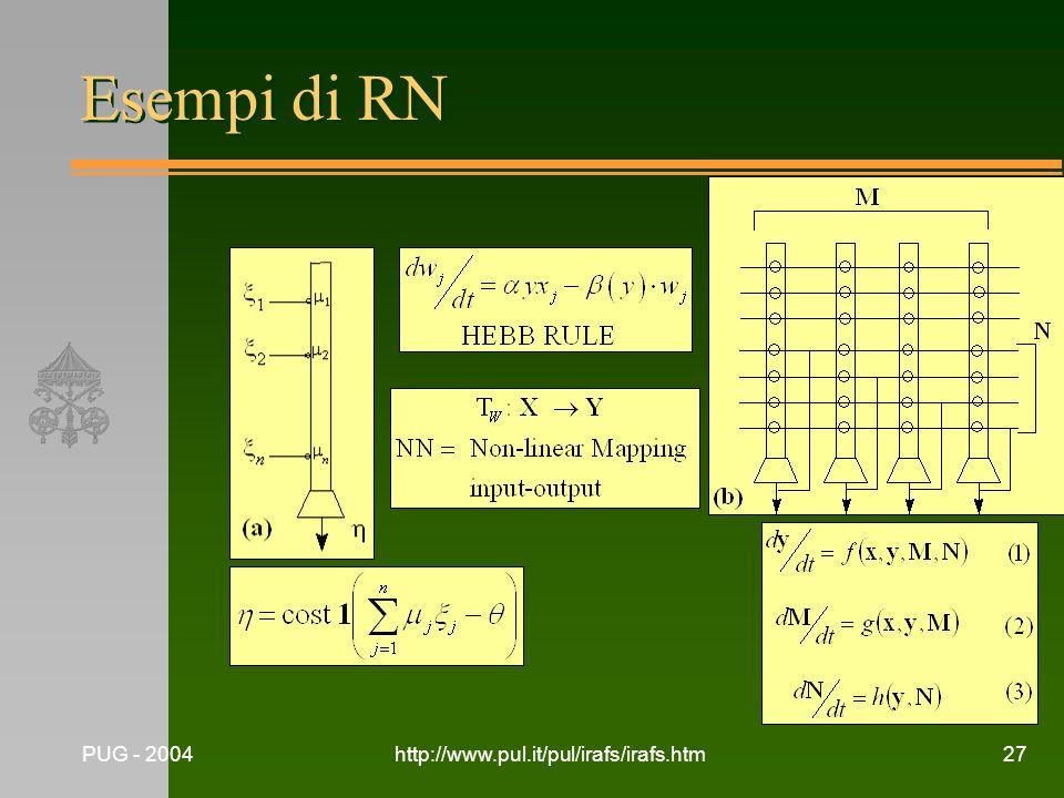 Esempi di RN PUG - 2004 http://www.pul.it/pul/irafs/irafs.htm