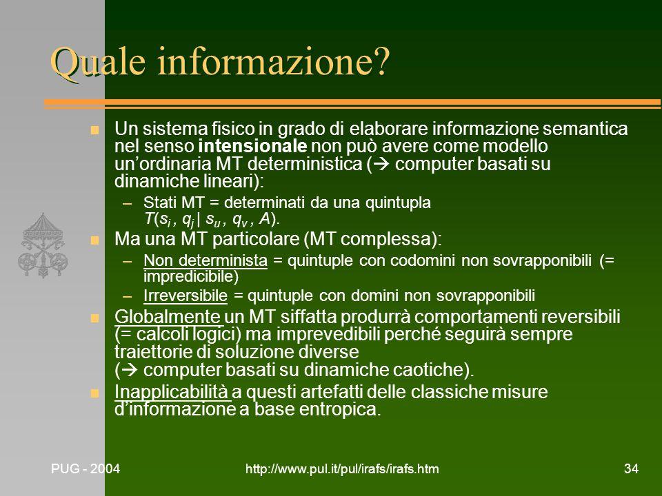 Quale informazione