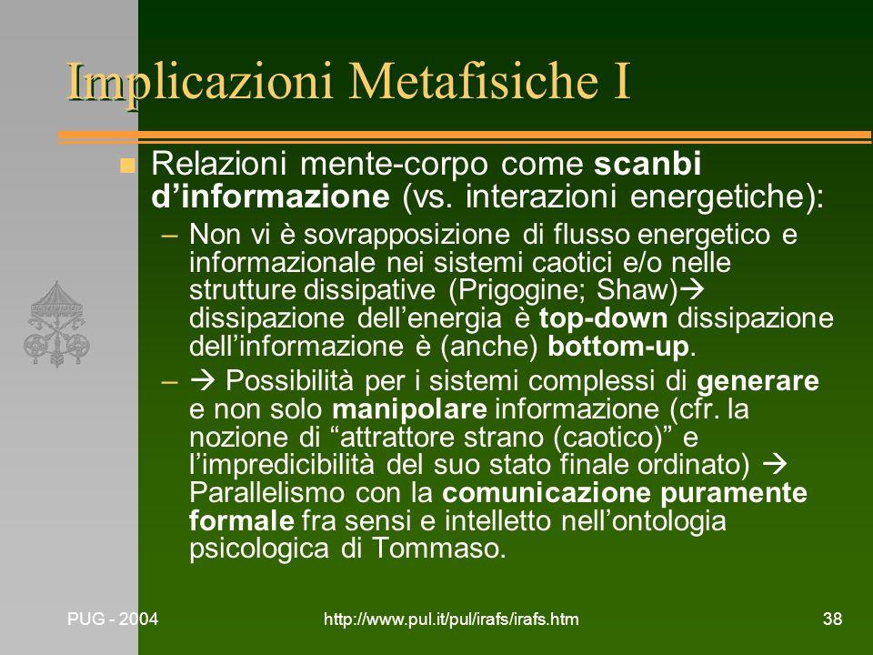 Implicazioni Metafisiche I