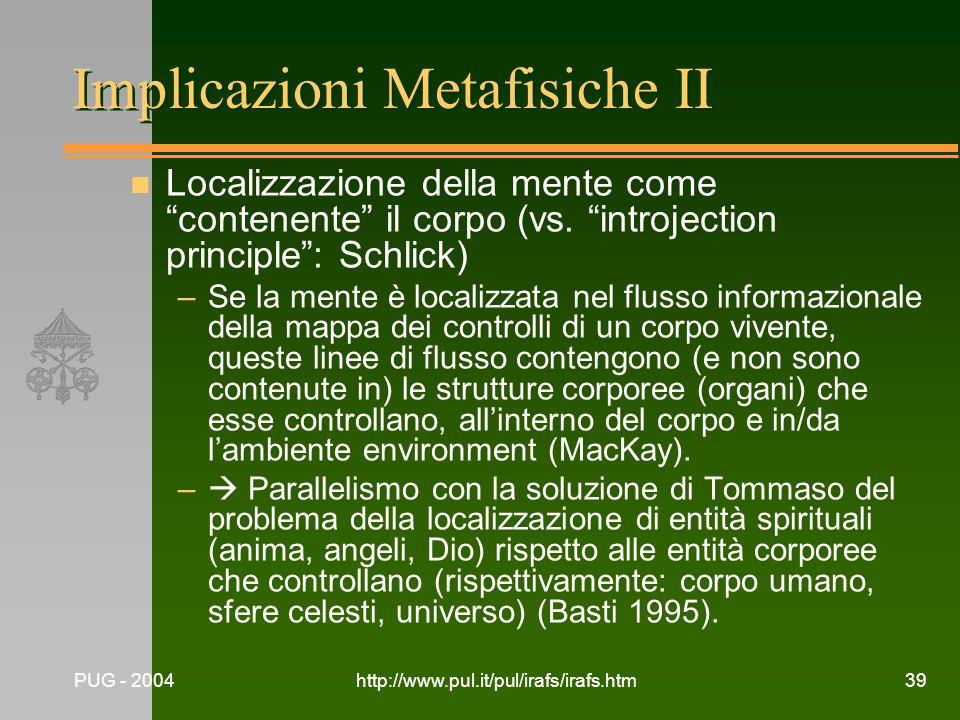 Implicazioni Metafisiche II