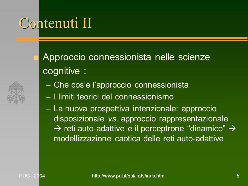 Contenuti II Approccio connessionista nelle scienze cognitive :