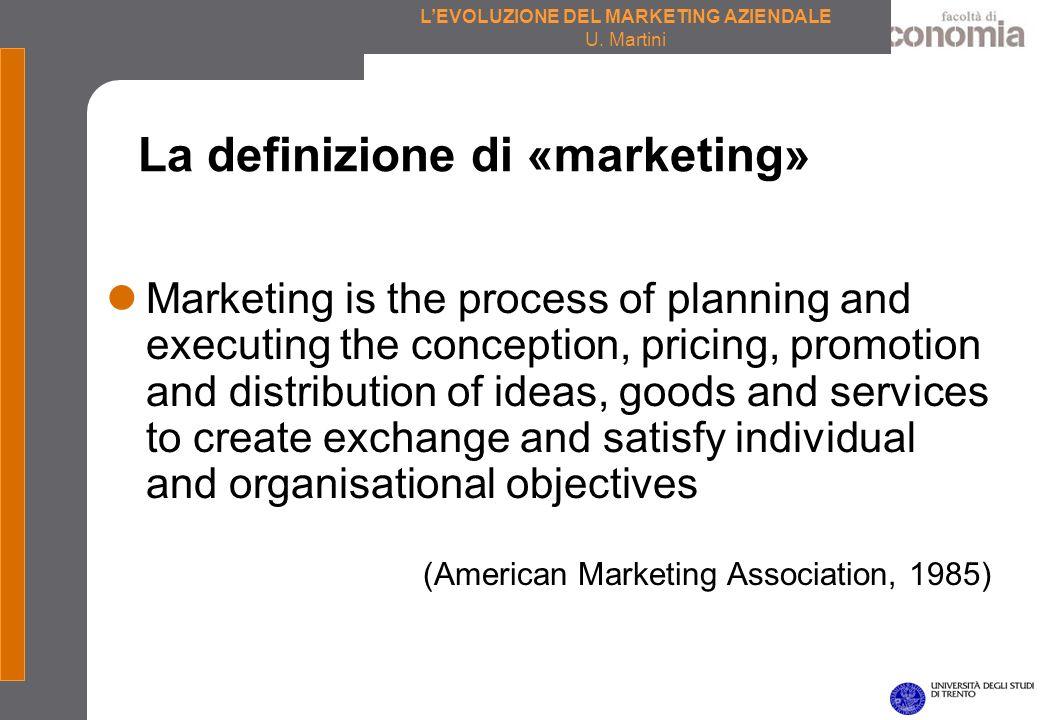La definizione di «marketing»