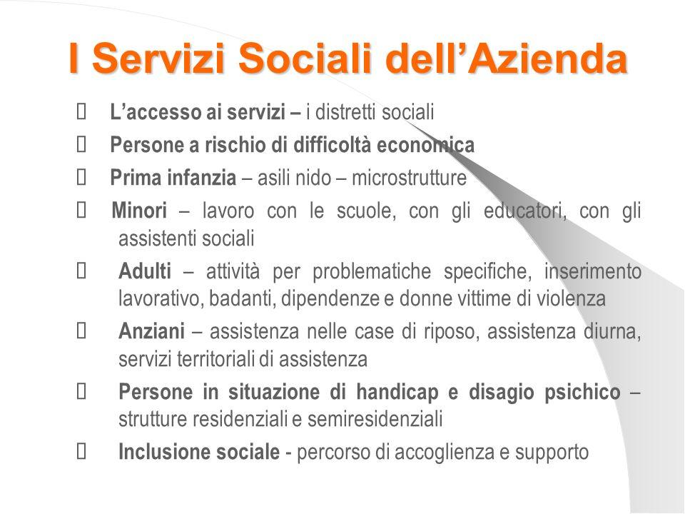 I Servizi Sociali dell'Azienda