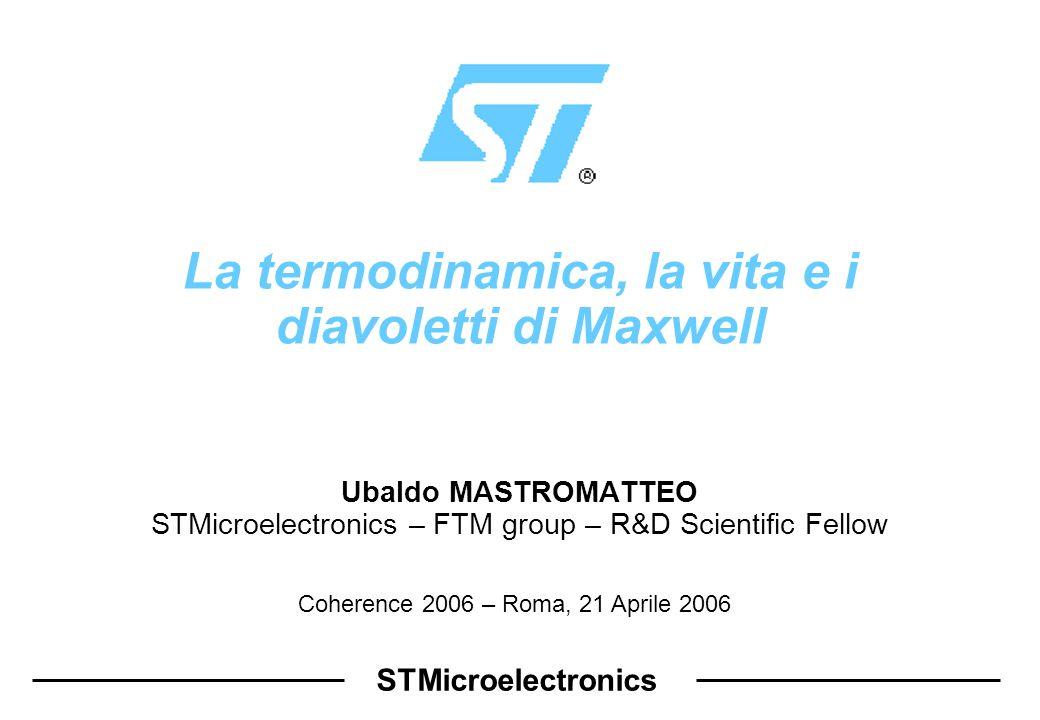 La termodinamica, la vita e i diavoletti di Maxwell