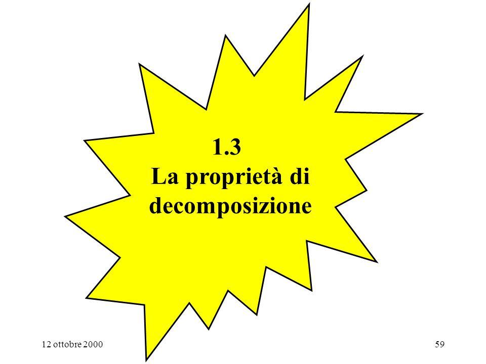 1.3 La proprietà di decomposizione