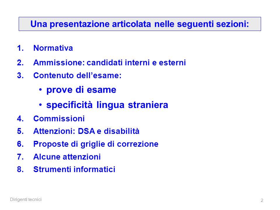 Una presentazione articolata nelle seguenti sezioni:
