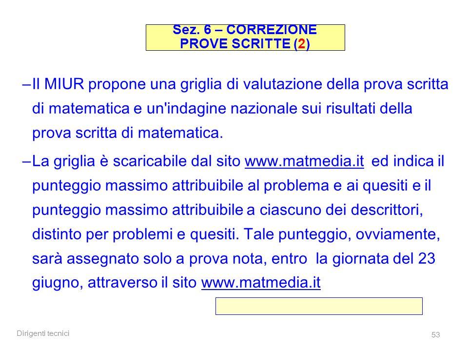 Sez. 6 – CORREZIONE PROVE SCRITTE (2)