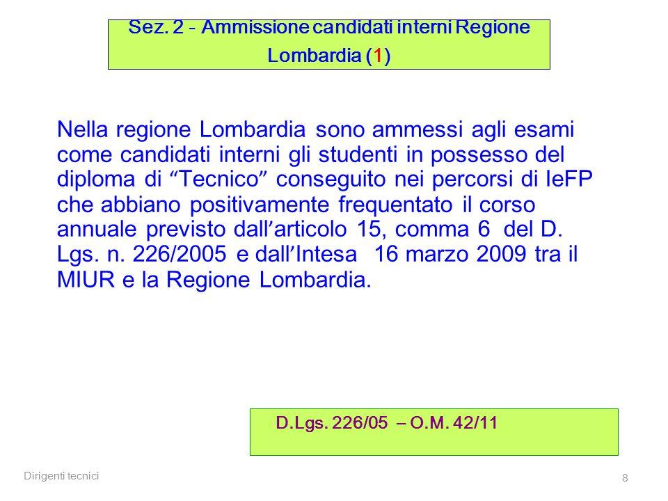 Sez. 2 - Ammissione candidati interni Regione Lombardia (1)