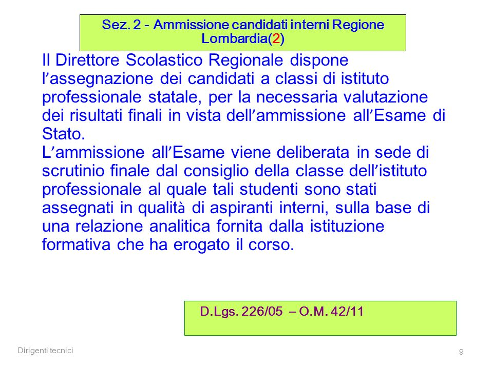 Sez. 2 - Ammissione candidati interni Regione Lombardia(2)