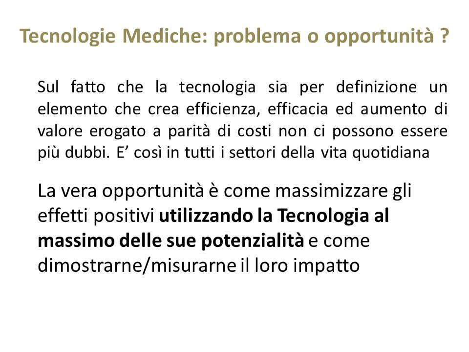 Tecnologie Mediche: problema o opportunità