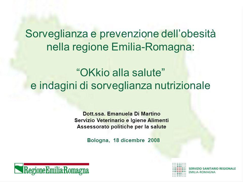 Sorveglianza e prevenzione dell'obesità nella regione Emilia-Romagna: