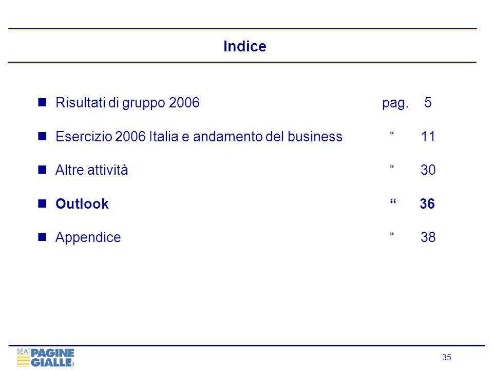 Indice Risultati di gruppo 2006 pag. 5