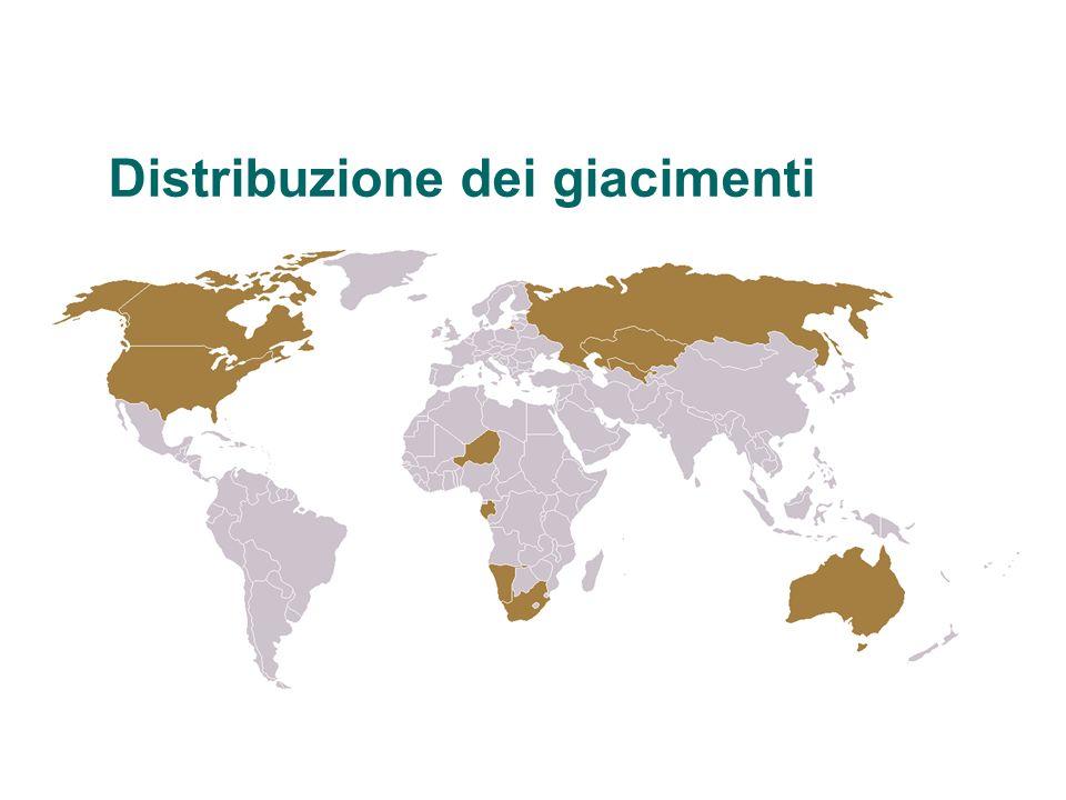 Distribuzione dei giacimenti