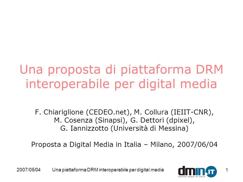 Una proposta di piattaforma DRM interoperabile per digital media