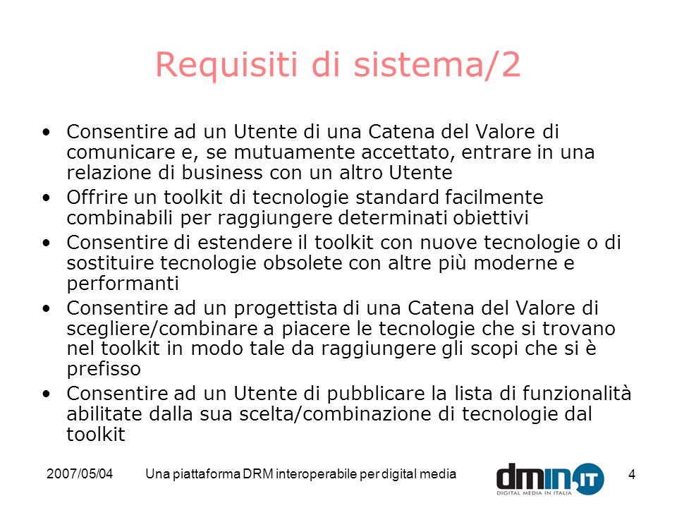 Una piattaforma DRM interoperabile per digital media