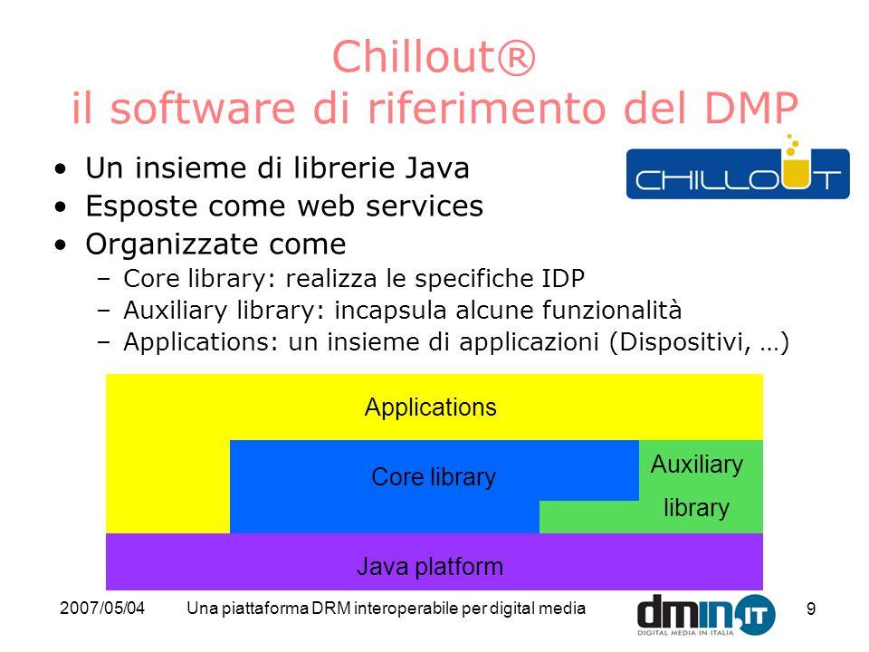 Chillout® il software di riferimento del DMP