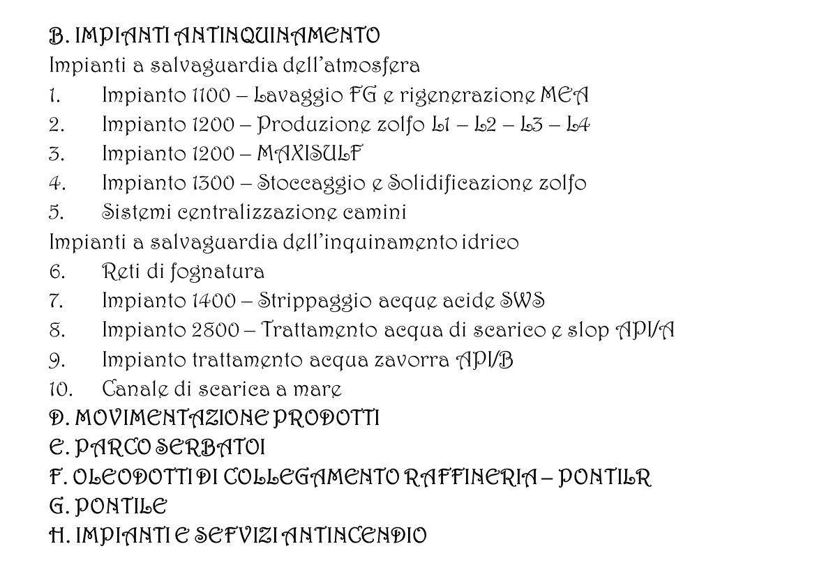 B. IMPIANTI ANTINQUINAMENTO