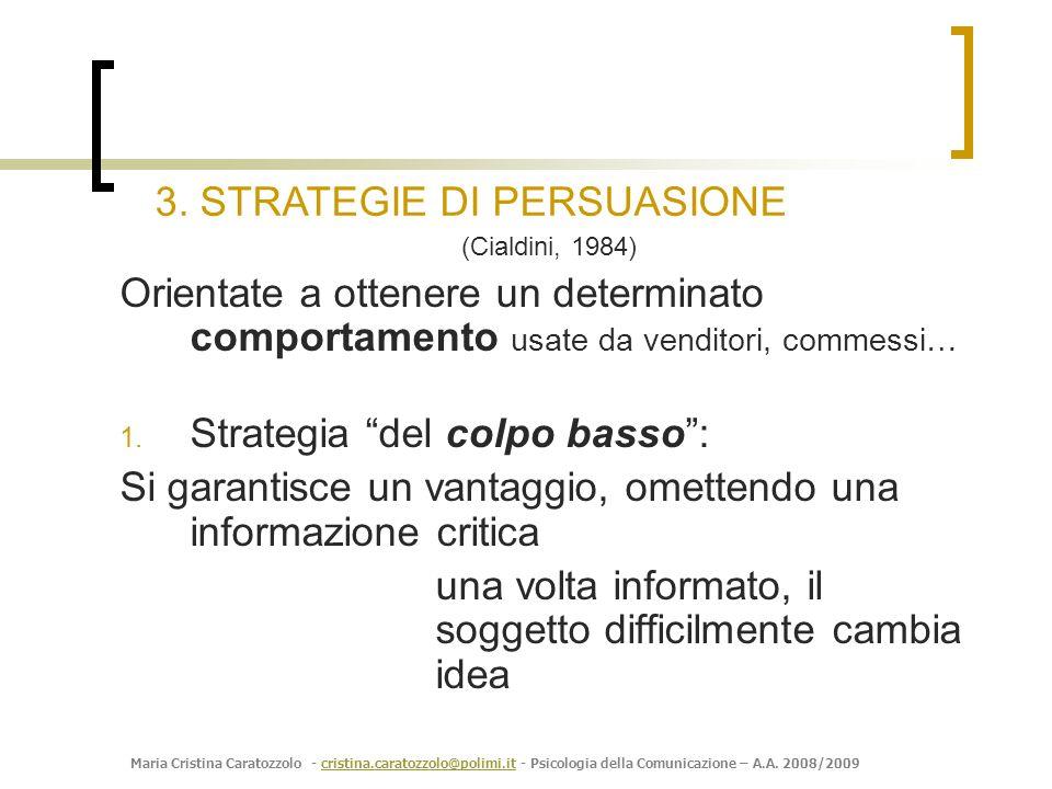 3. STRATEGIE DI PERSUASIONE