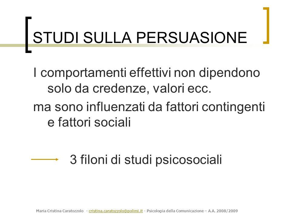 STUDI SULLA PERSUASIONE