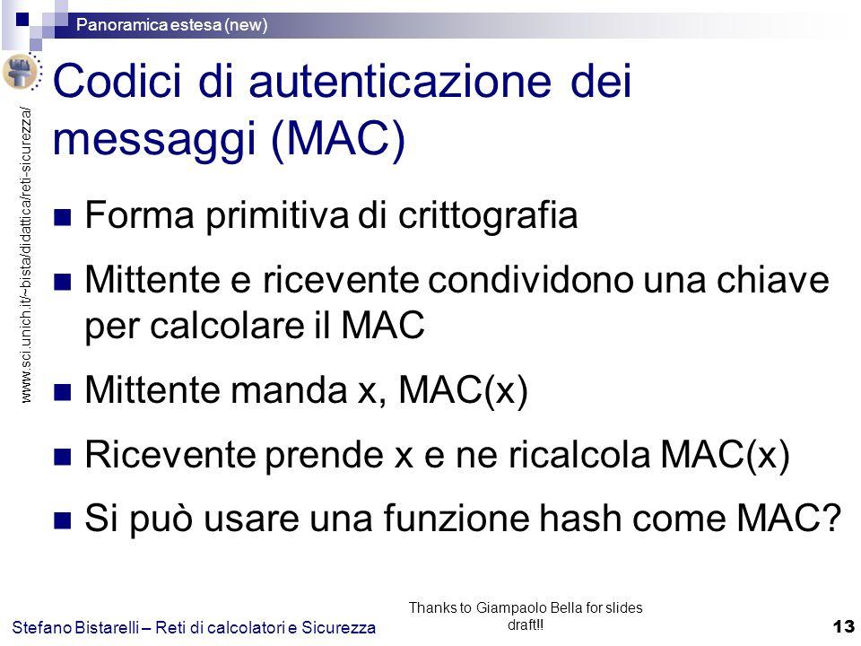 Codici di autenticazione dei messaggi (MAC)
