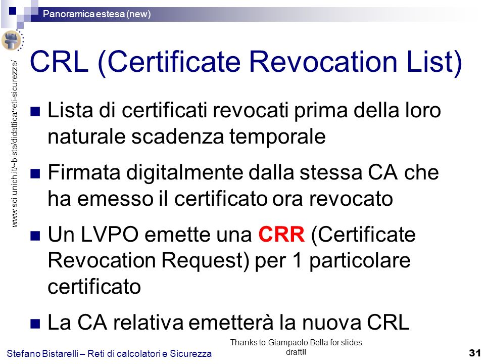 CRL (Certificate Revocation List)