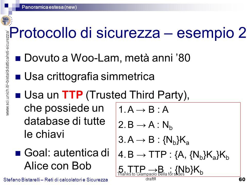Protocollo di sicurezza – esempio 2