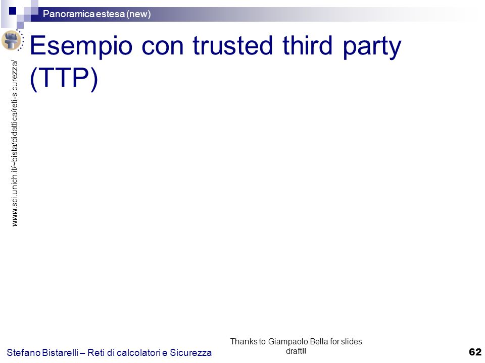 Esempio con trusted third party (TTP)