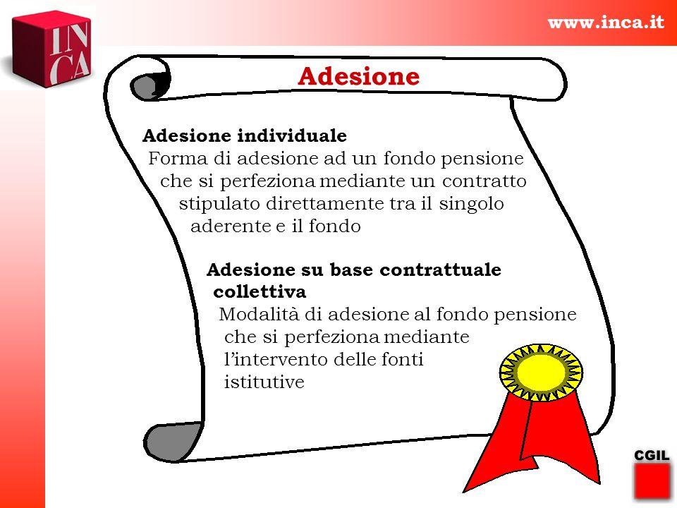 Adesione www.inca.it Adesione individuale