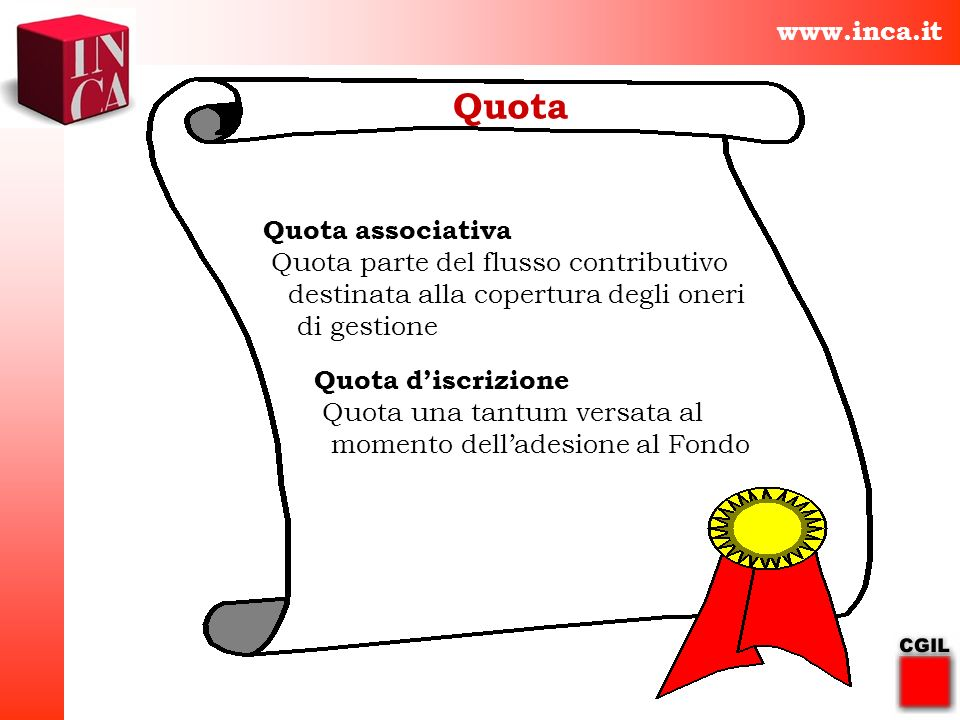 Quota www.inca.it Quota associativa