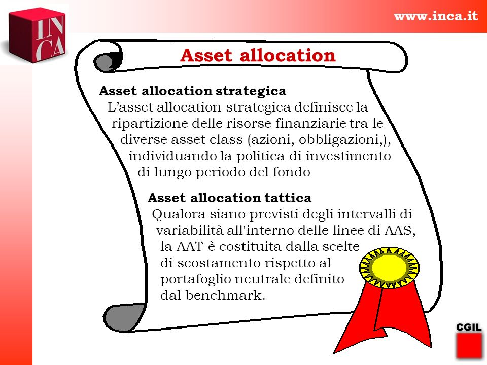 Asset allocation www.inca.it Asset allocation strategica
