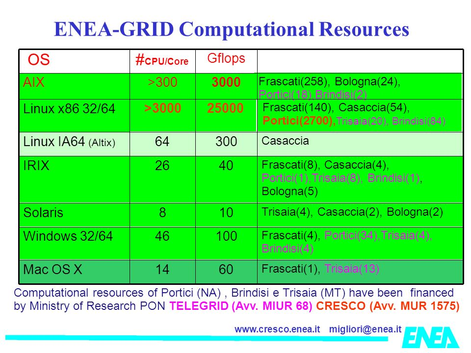 ENEA-GRID Computational Resources