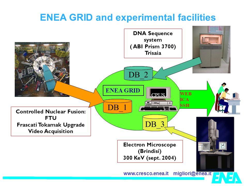 ENEA GRID and experimental facilities