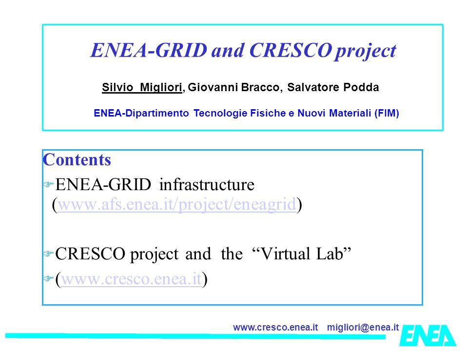 ENEA-GRID and CRESCO project