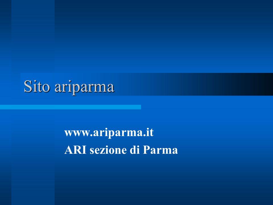 www.ariparma.it ARI sezione di Parma