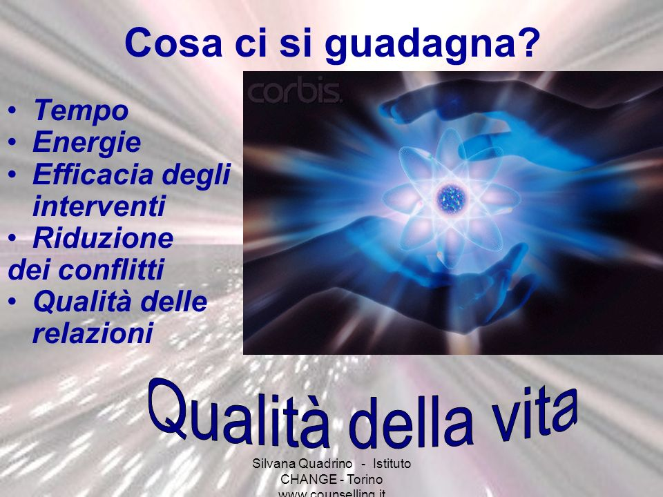 Silvana Quadrino - Istituto CHANGE - Torino www.counselling.it